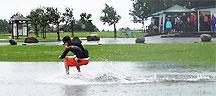 Surfa på golfbanan